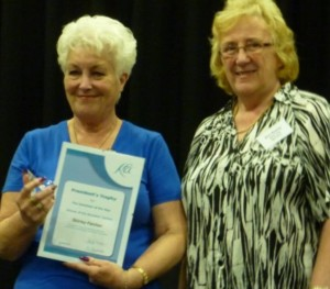 Left : Janet Richmond, RMLO Southern Counties Right : Ann Bayley, Vice President -The Keep Fit Association