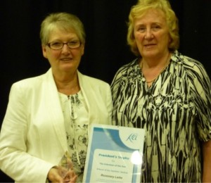 Left : Rosemary Larke  - Teacher Member Right : Ann Bayley, Vice President The Keep Fit Association